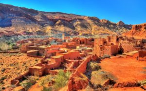 View of Bou Tharar village - Morocco, the Valley of Roses